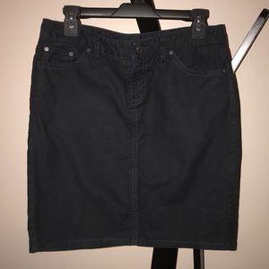 Gap Black Stretch Pencil Skirt EUC